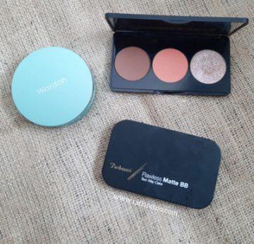 Produk Face Makeup dari Wardah, Purbasari, dan Extica